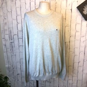 Tommy Hilfiger gray crew neck sweater